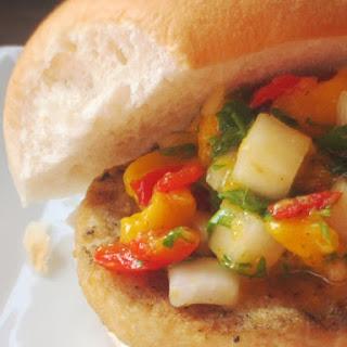 Grilled Mahi Mahi Burgers with Fresh Mango Salsa