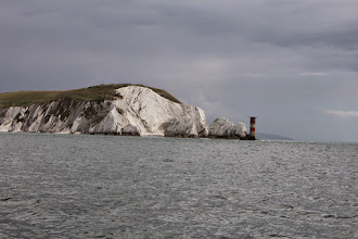 Photo: Passing inside the Needles of the west end of Isle of White as as we enter the Solent water-ways