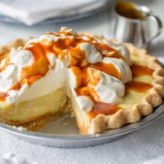 Vanilla Cream Caramel Pie