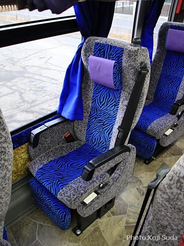 北海道バス「帯広特急ニュースター号」 ・997 シート