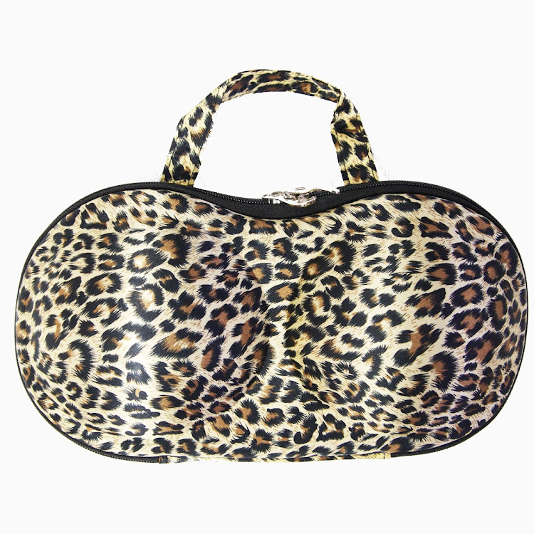 My Bra Bag (LEOPARD) | Travel Bra Bag (Regular size) by Supermodels Secrets