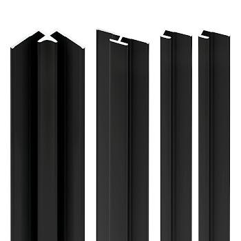 DecoDesign - Zubehör Profilset - Schwarz (68), Länge 2550 mm