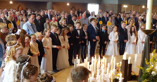 Erstkommuniongottesdienst in Melle 08.04.2018