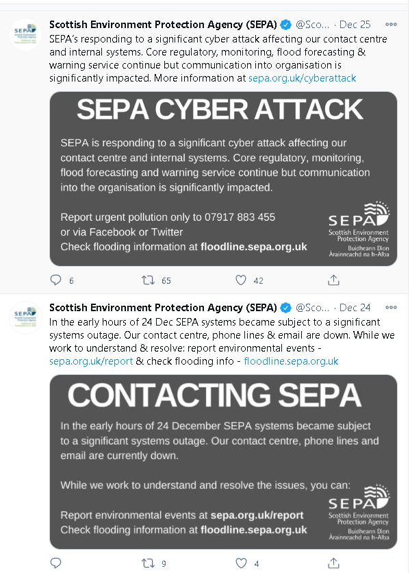 Scottish Environment Protection Agency Subject of 'Significant Cyber Attack' 2