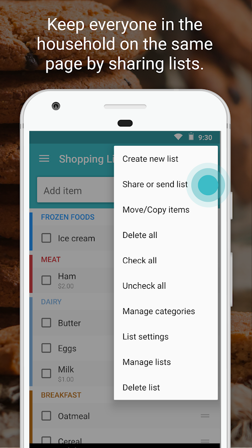 Screenshots of Out of Milk Shopping List for iPhone