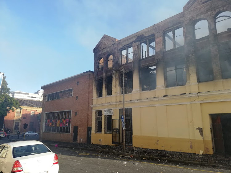 The gutted three-storey building in Albertus Street, central Cape Town.