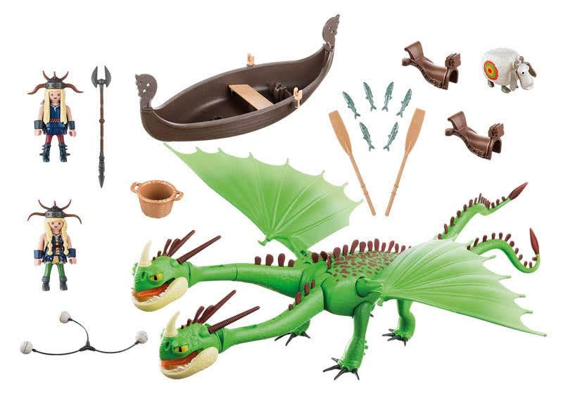 Contenido Real de Playmobil® Playmobil® 9458 Dragón 2 Cabezas con Chusco y Brusca