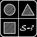 The area of geometric figures icon