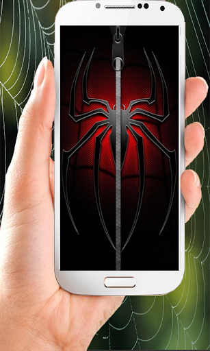 Spider Zipper Screen Lock