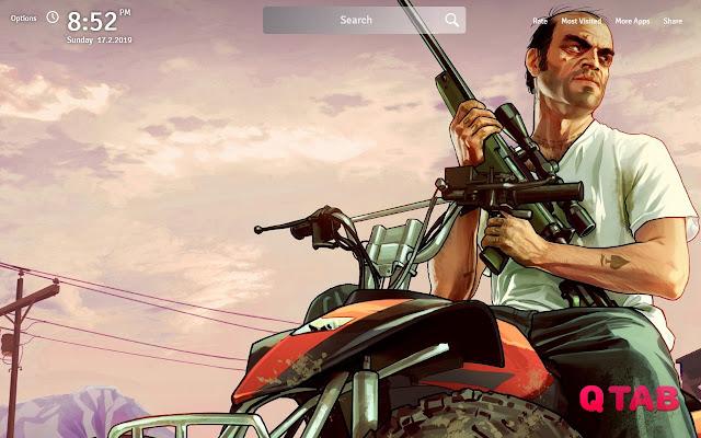GTA 5 Wallpapers Theme New Tab
