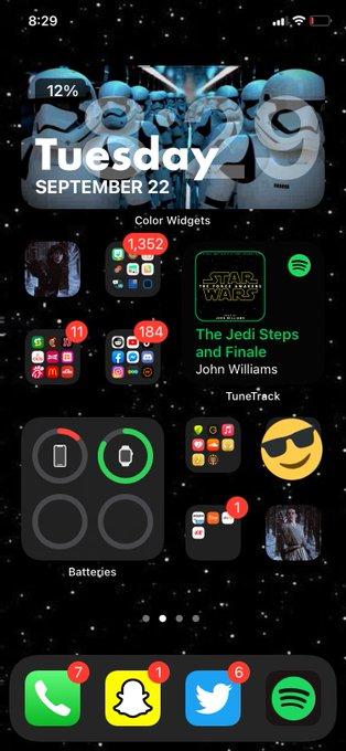 Star Wars iOS 14 home screen