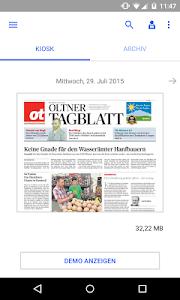 ot Oltner Tagblatt E-Paper screenshot 0