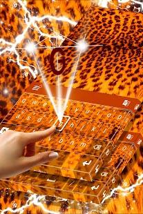 Leopard Print Keyboard Theme - náhled