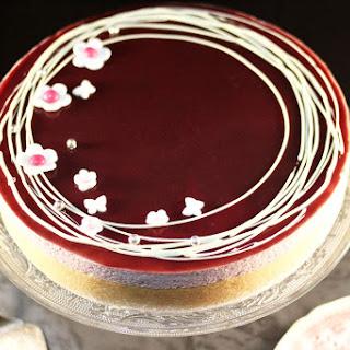 Raspberry Mousse Cake.