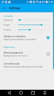 PaperLaunch: Side launcher - náhled
