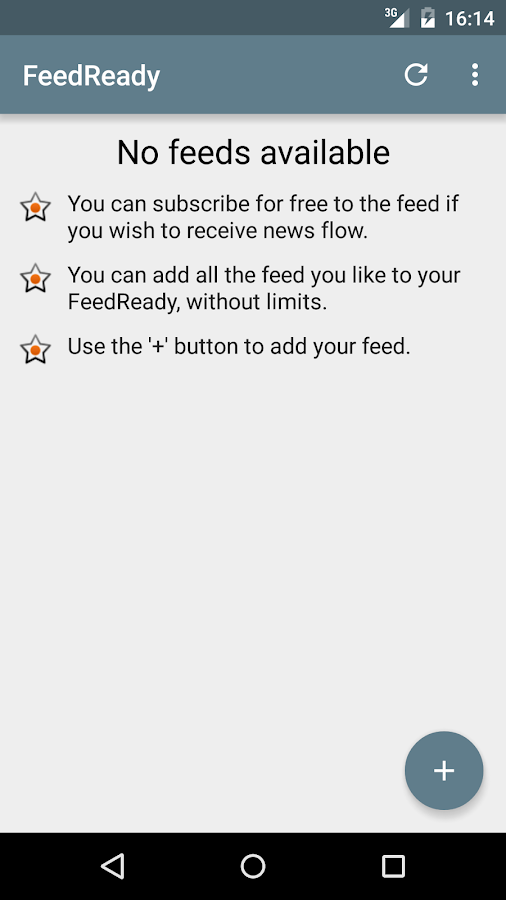 FeedReady- screenshot