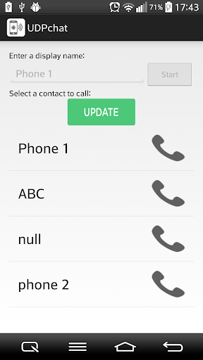 Wifi Talkie Call on Network