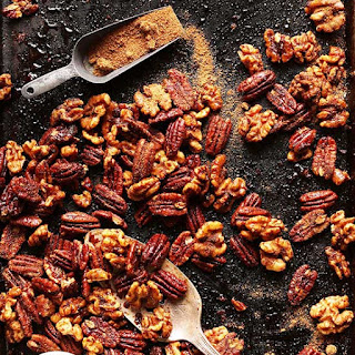 15 Minute Candied Spiced Nuts (1 Pan!)