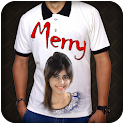 Photo with Text on T-shirt icon
