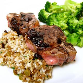 Lamb with Balsamic Sauce.