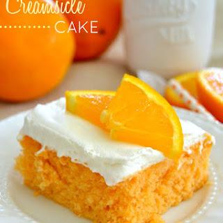 Skinny Orange Creamsicle Poke Cake.