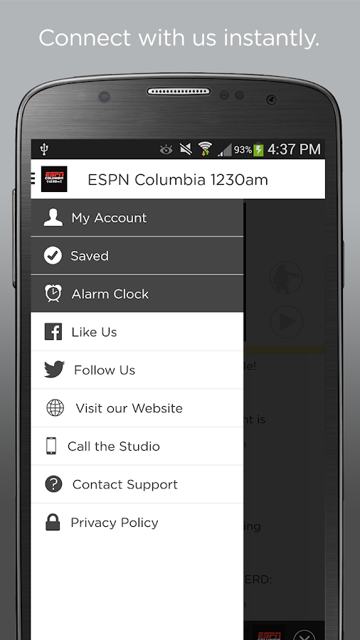 ESPN Columbia 1230 AM- screenshot