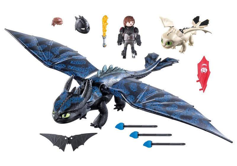 Contenido real de Playmobil® 70037 Hipo y Desdentado con Bebé Dragón