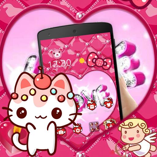 Pink Kitty Lovely Princess Theme