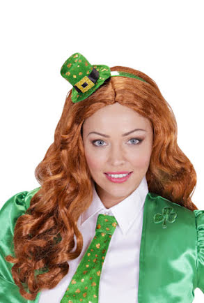 St Patricks Day-diadem med hatt