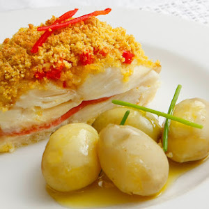 Stuffed Cod with Bacon and Cornbread