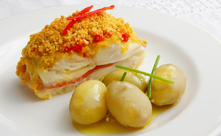 Stuffed Cod with Bacon and Cornbread Recipe