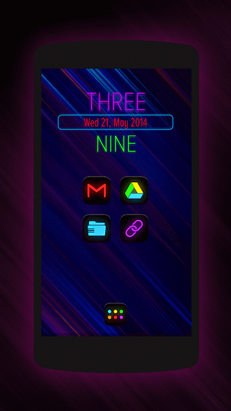 Neon Glow – Icon Pack v4.3.0