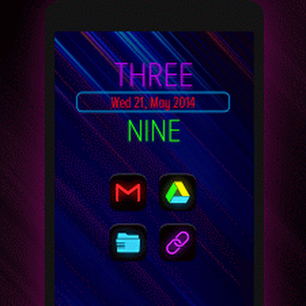 Neon Glow - Icon Pack v4.3.0