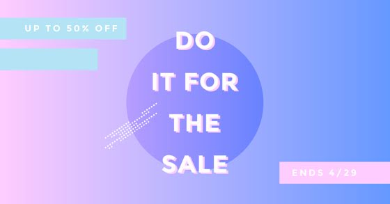 Do It for the Sale - Facebook Event Cover Template