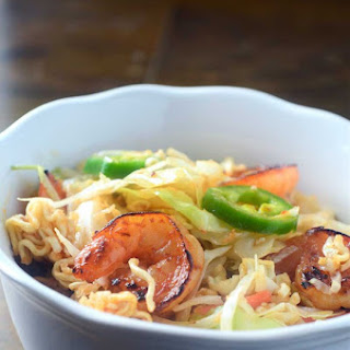 Sweet n' Spicy Shrimp and Ramen Noodle Salad