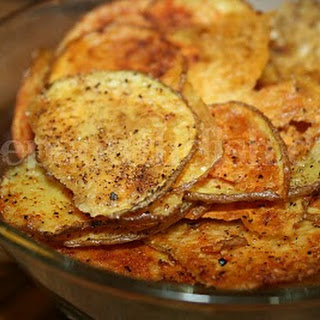 Homemade Baked Potato Chips.