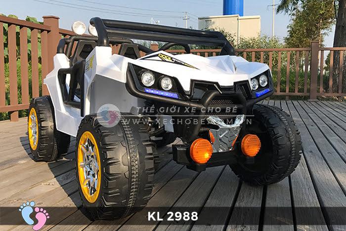 Xe ô tô điện đồ chơi trẻ em KL-2988 ghế da 7