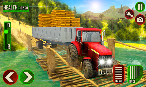 Offroad Pickup Cargo Tractor Trolley Transport android2mod screenshots 2