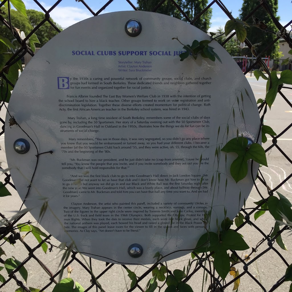 Read the Plaque - Social Clubs Support Social Justice