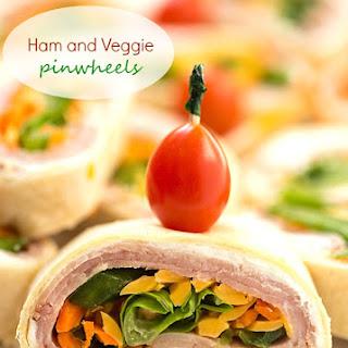 Ham and Veggie Pinwheels
