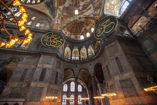 Built in 537 A.D., Hagia Sophia at various times was a Greek Orthodox church, an imperial mosque and now a museum.