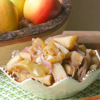Healthy, Lowfat, Roasted Parsnip and Apple Bake.