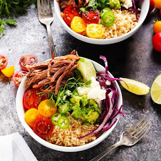 Slow Cooker Carnitas Steak Bowls