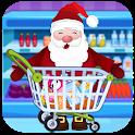 Santa Claus Supermarket Shopping icon