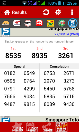 Live 4D Results ! (MY & SG) screenshot 2