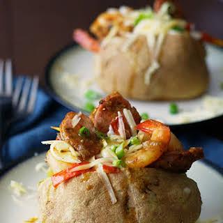 Jambalaya Stuffed Baked Potatoes #SundaySupper.
