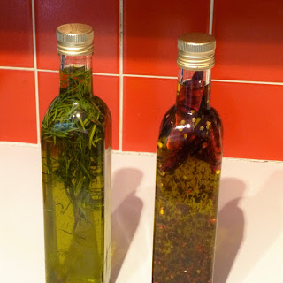 Homemade Flavoured Olive Oil.