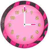 Cute Pink Clock Widget