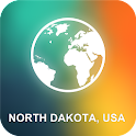 North Dakota, USA Offline Map icon