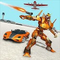 Robot Car Transporter Plane: Robot transform games icon